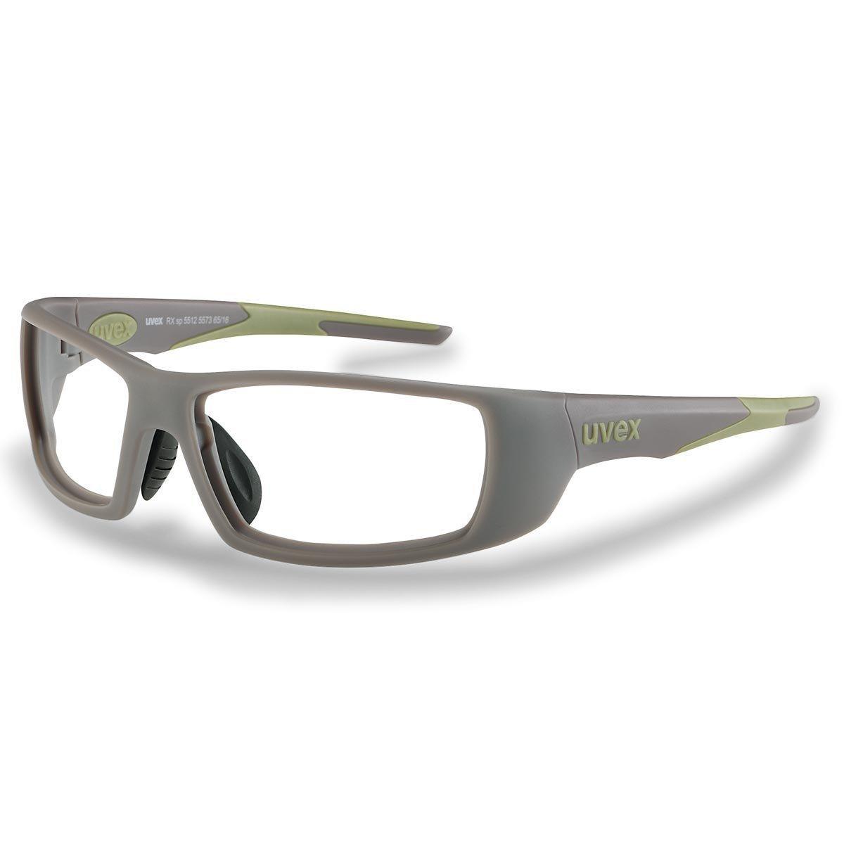 Uvex Korrektionsschutzbrille RX sp 5512 grün - Keine Entspiegelung