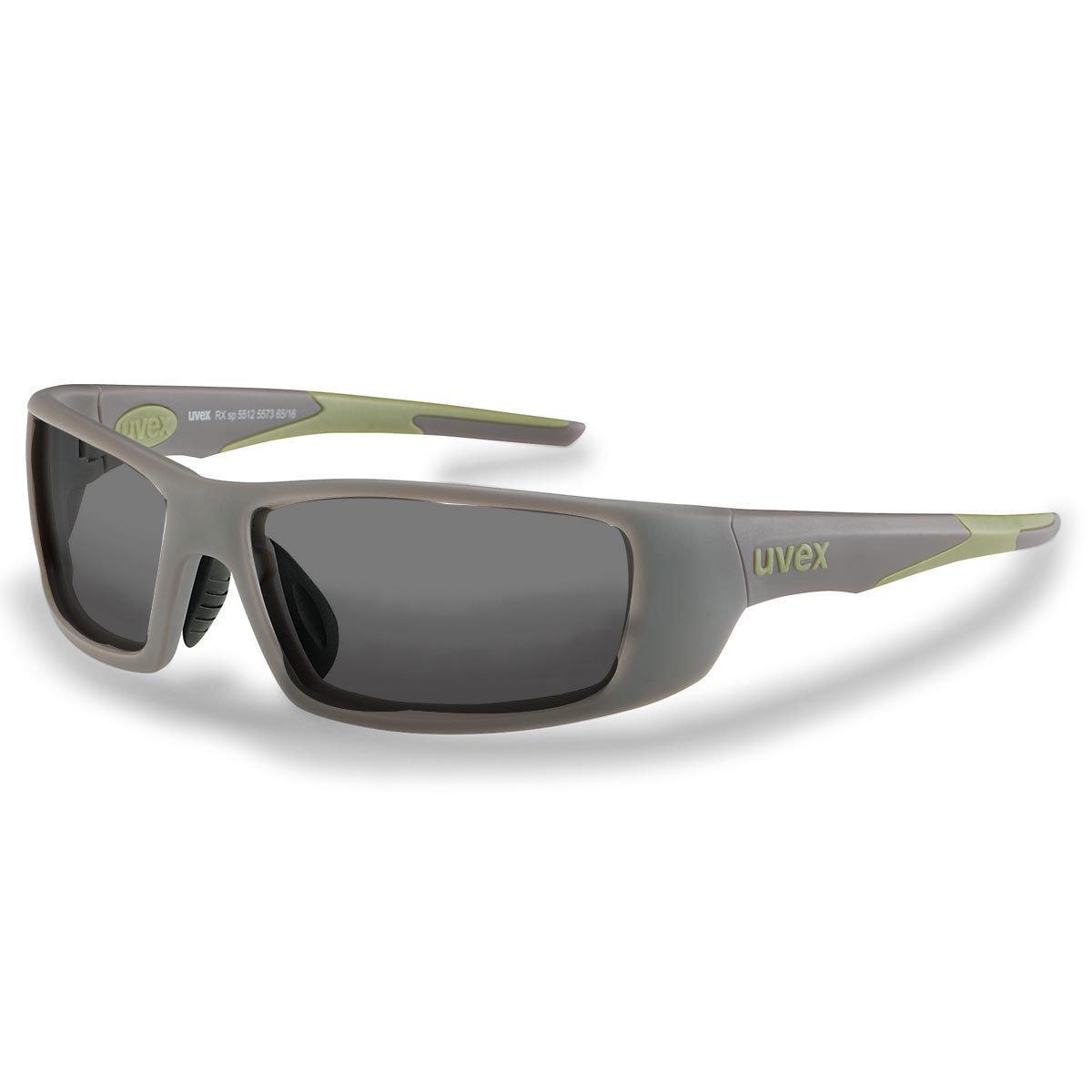 Uvex Korrektionsschutzbrille RX sp 5512 grün - grau getönt