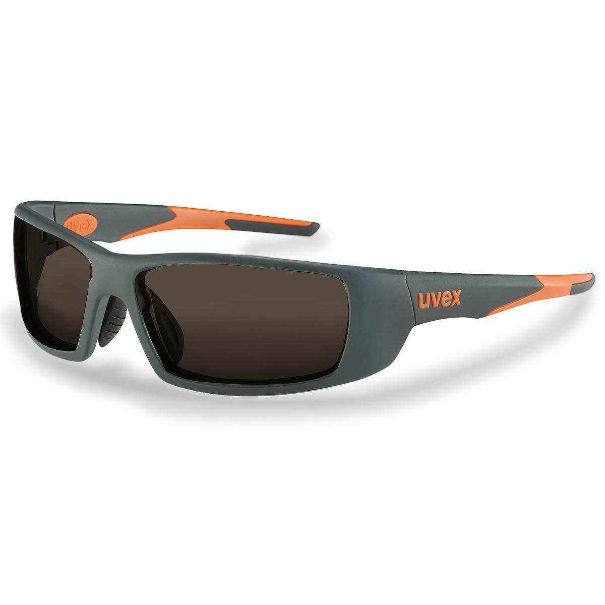 Uvex Korrektionsschutzbrille RX sp 5512 orange - braun getönt